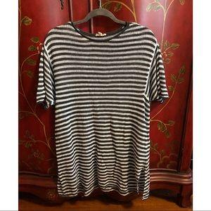 Eileen Fisher linen striped shirt tunic